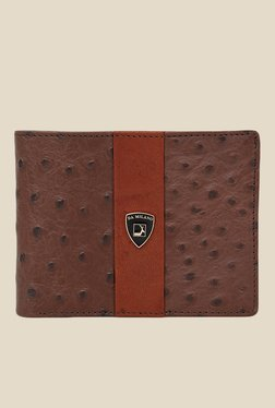 Da Milano Brown Textured Leather Wallet - Mp000000000690107