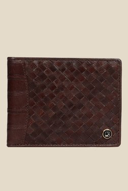 Da Milano Brown Textured Leather Wallet - Mp000000000690148