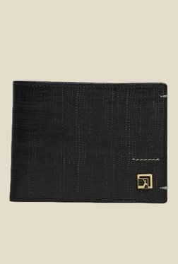 Da Milano Black Textured Leather Wallet - Mp000000000690152