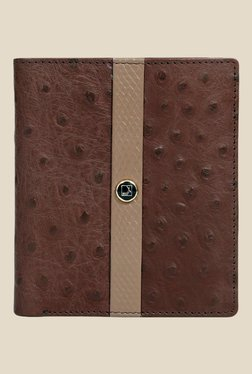 Da Milano Brown Textured Leather Wallet - Mp000000000690163