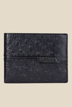 Da Milano Black Textured Leather Wallet - Mp000000000690180
