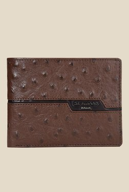 Da Milano Brown Textured Leather Wallet - Mp000000000690184