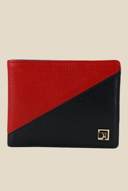 Da Milano Red Textured Leather Wallet - Mp000000000690198