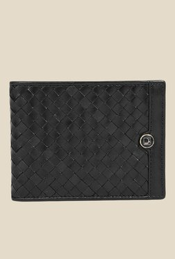 Da Milano Black Textured Leather Wallet - Mp000000000690204