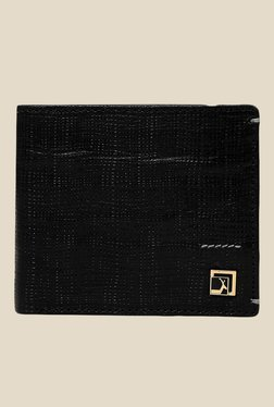 Da Milano Black Textured Leather Wallet - Mp000000000690248
