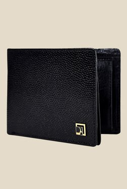 Da Milano Black Textured Leather Wallet - Mp000000000690338
