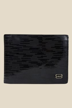 Da Milano Black Textured Leather Wallet - Mp000000000690370
