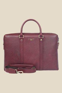 Da Milano Berry Textured Leather Laptop Bag - Mp000000000690406