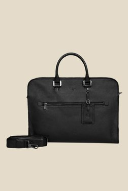 Da Milano Black Leather Laptop Bag - Mp000000000690467