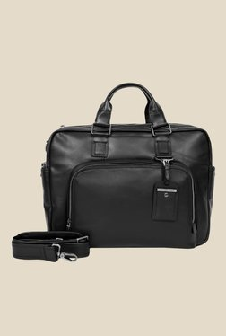 Da Milano Black Leather Laptop Bag - Mp000000000690471