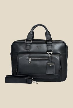 Da Milano Black Leather Laptop Bag - Mp000000000690473