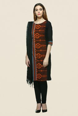 Aurelia Black & Brown Printed Kurta