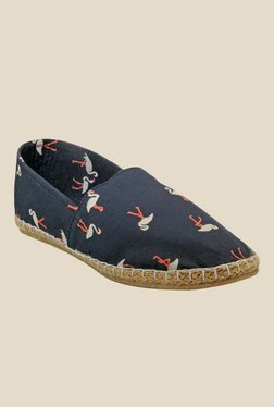 Juan David Navy & Orange Espadrilles