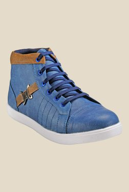Juan David Blue & Tan Sneakers