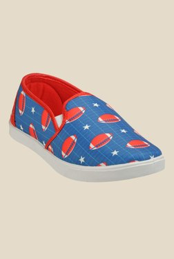 Juan David Blue & Red Plimsolls