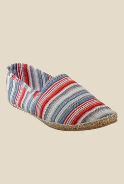 Juan David White & Red Espadrilles