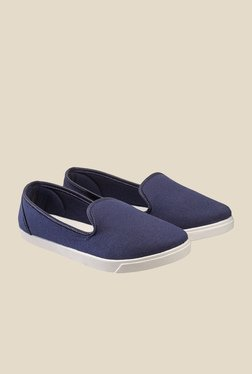 Nell Navy & White Loafers