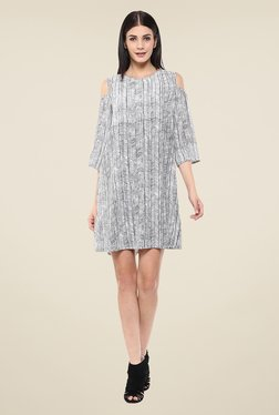 Femella White & Black Printed Dress