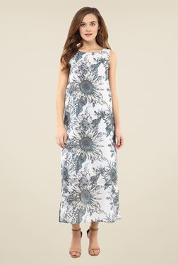Femella White Floral Print Dress