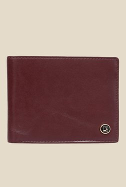 Da Milano Berry Maroon Leather Wallet