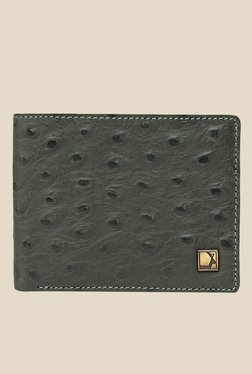 Da Milano Grey Textured Leather Wallet - Mp000000000697102