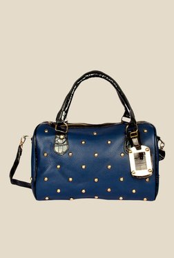 Joker & Witch Studded Blue Bowling Bag