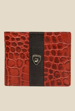 Da Milano Red Textured Leather Wallet
