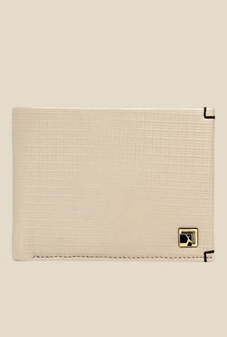 Da Milano Off-white Textured Leather Wallet