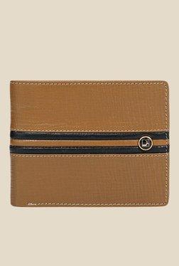 Da Milano Tan Textured Leather Wallet