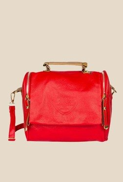 Joker & Witch Red Double Zipper Sling Bag