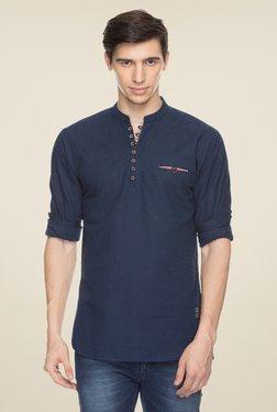 Status Quo Navy Solid Shirt