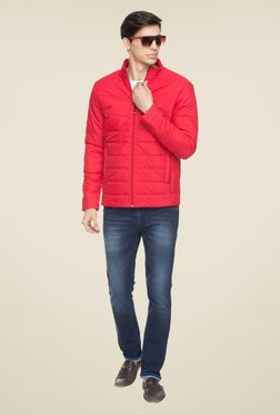 Status Quo Red Quilted Jacket