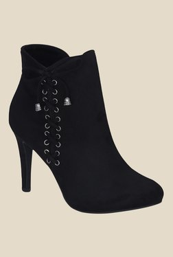 Get Glamr Black Stiletto Heeled Booties - Mp000000000699608