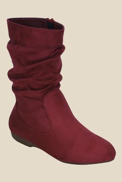 Get Glamr Red Casual Booties