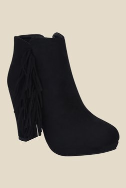 Get Glamr Black Casual Booties - Mp000000000699854