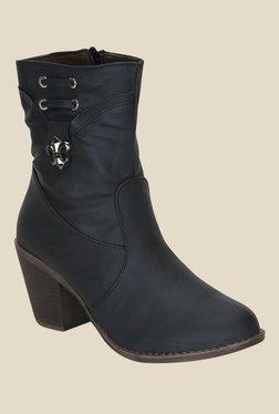 Get Glamr Black Casual Booties
