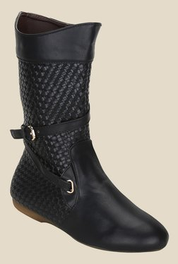 Get Glamr Black Casual Booties - Mp000000000700667