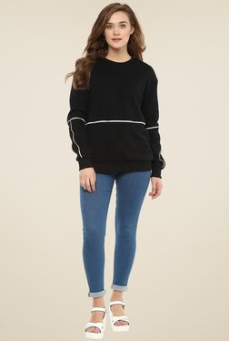 Femella Black Piping Sweatshirt