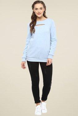 Femella Blue Cut Out Sweatshirt
