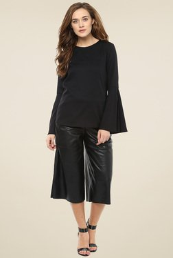 Femella Black Bell Sleeve Top