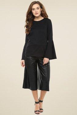Femella Black Bell Sleeve Top