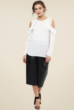 Femella White Cold Shoulder Top