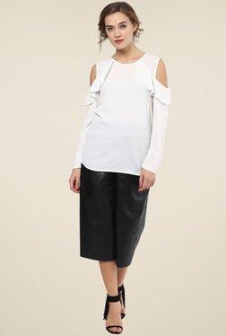 Femella White Cold Shoulder Top