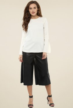 Femella Off White Bell Sleeve Top