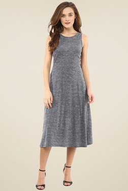 Femella Grey Midi Dress