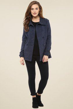 Femella Navy Double Breasted Jacket