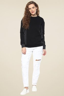 Femella Black & Ash Block Sweatshirt
