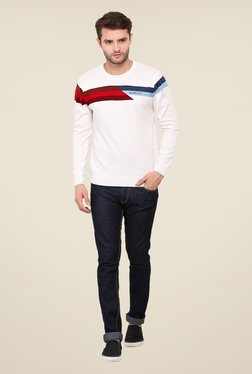 Duke Stardust Off White Solid Sweater