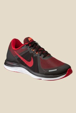 Nike Dual Fusion X 2 Black & Red Running Shoes