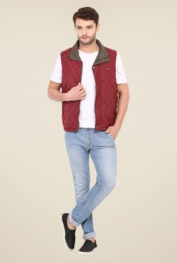 Duke Stardust Maroon Quilted Jacket